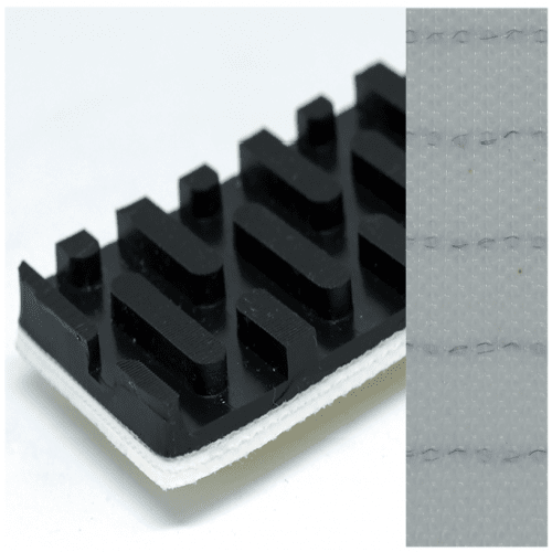 Băng tải PVC đen nhám hạt dưa 8,5mm