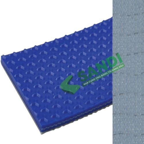Băng tải PVC xanh nhám chữ Y dày 3mm