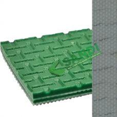 Băng tải PVC xanh nhám vuông dày 3mm