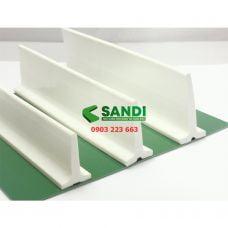 Vách băng tải PVC trắng dạng T