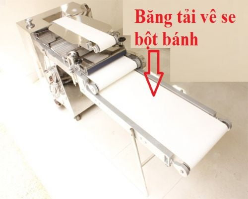 Đặc điểm và cấu tạo của hệ thống băng tải máy cán bột bánh mì